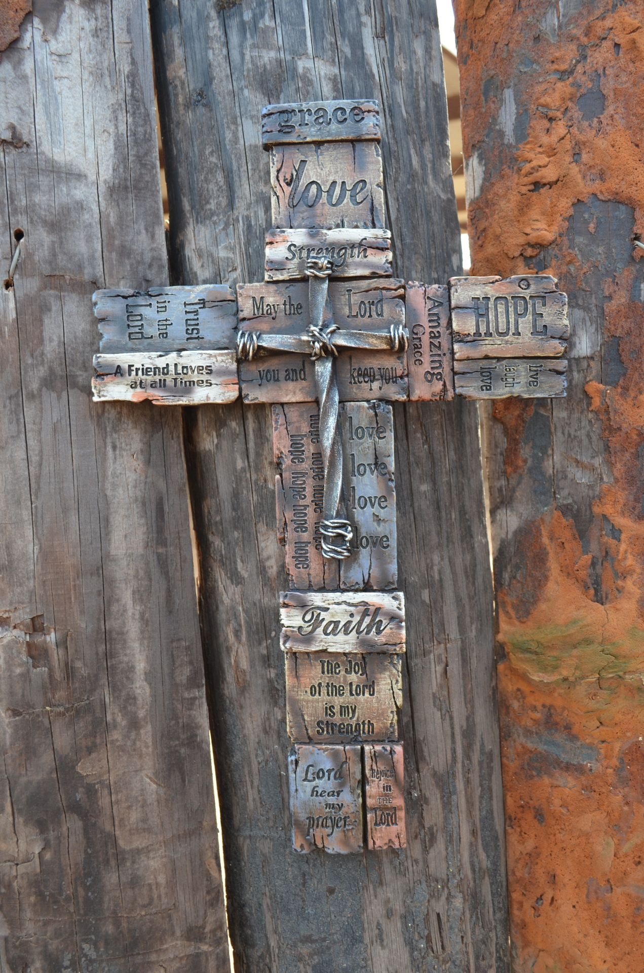 Love. Hope, Faith Inspirational cross