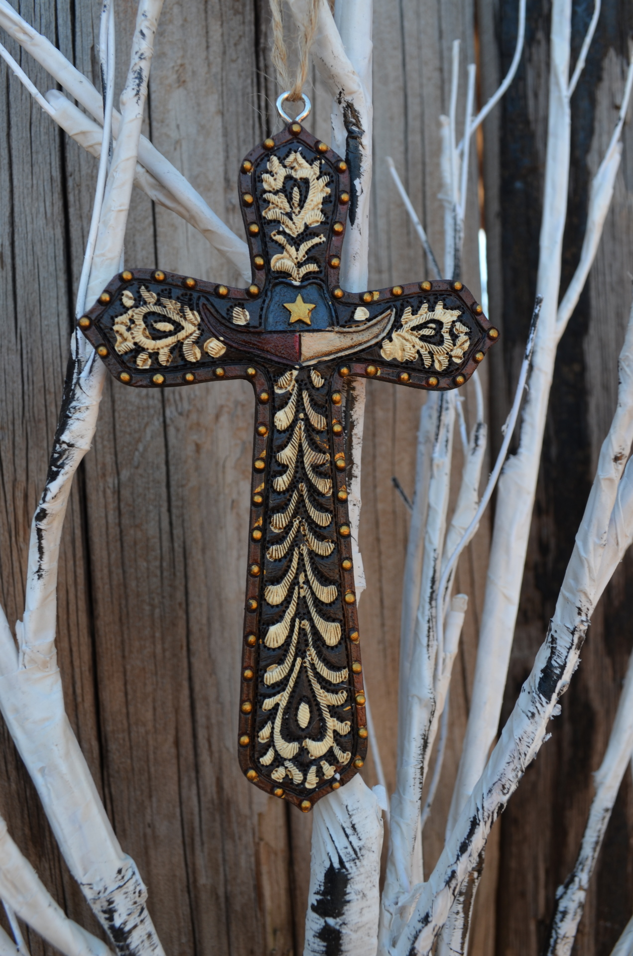 Texas Cross Ornament SET