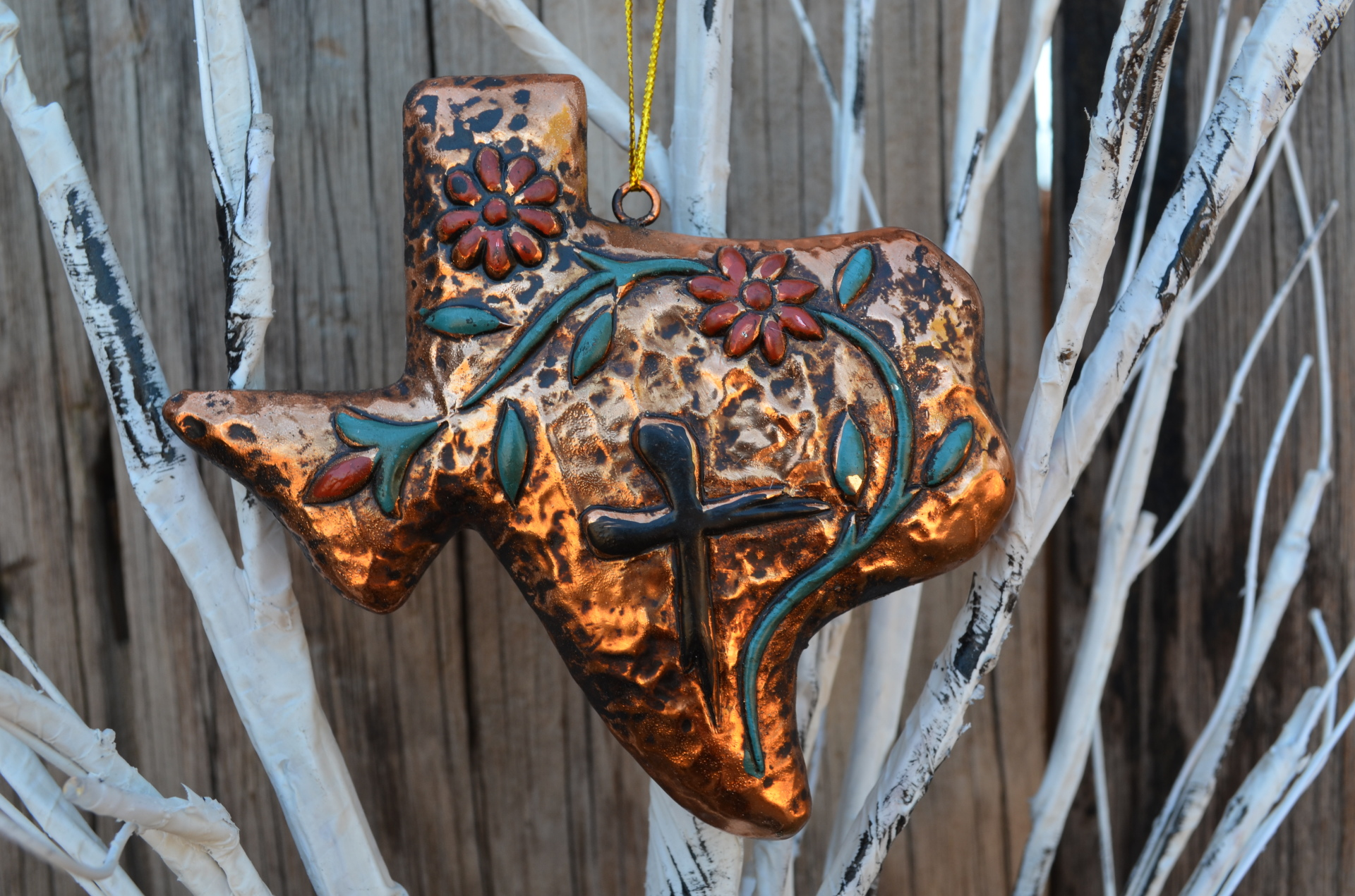 Texas Gold Ornament Set