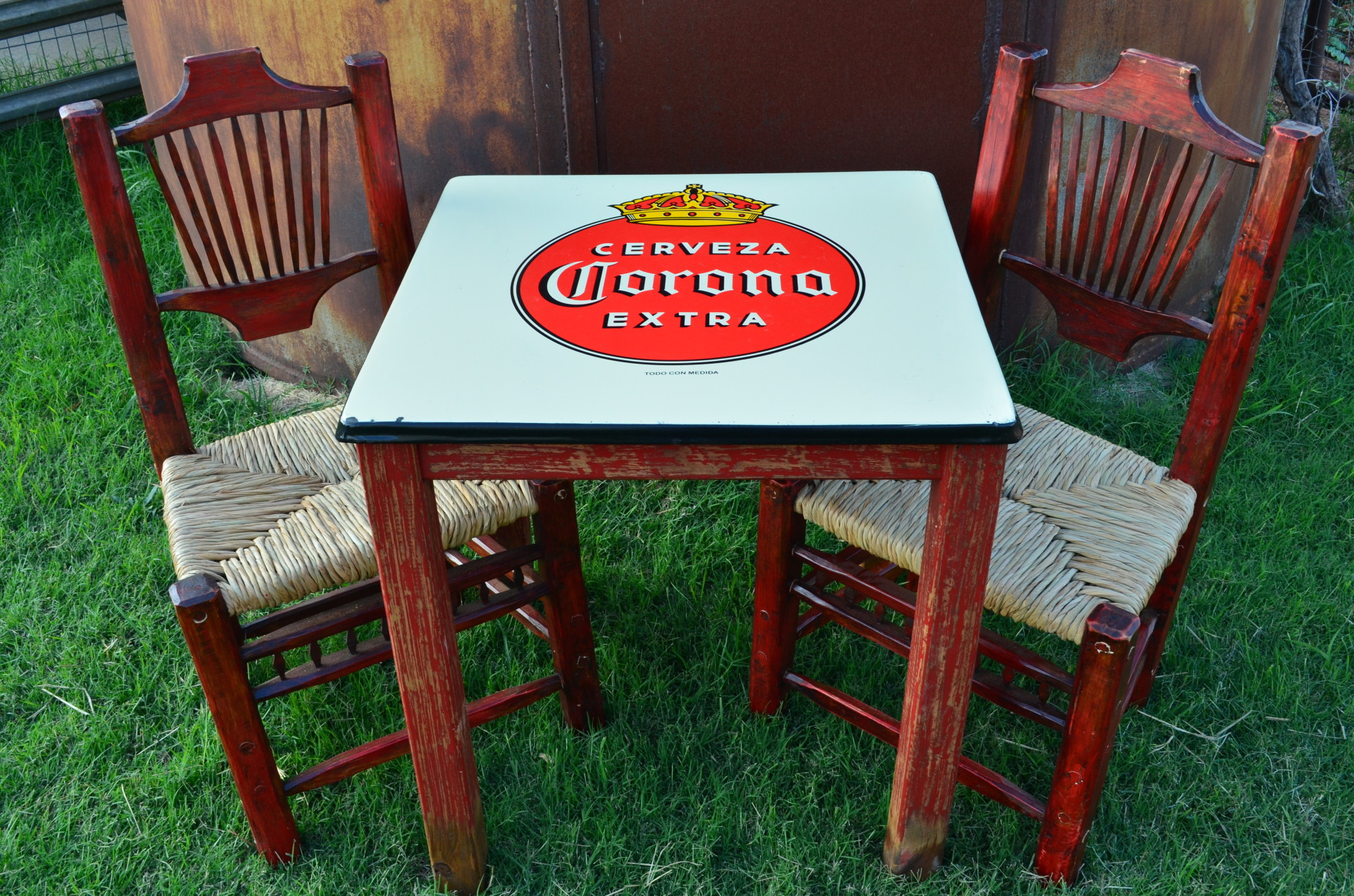 Corona Tin Top Table $298