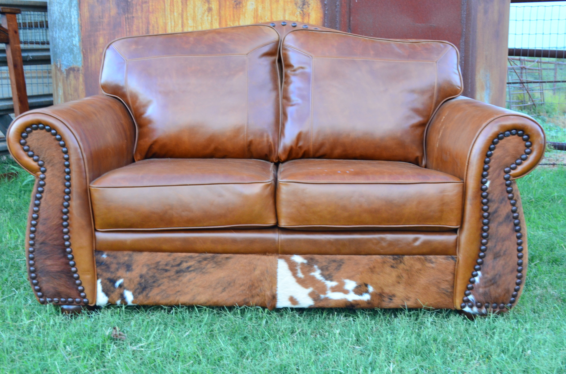 Leather and Hide Sofa and Loveseat SET