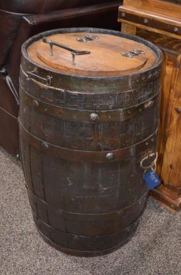 Whiskey Barrel Trashcan.  $438