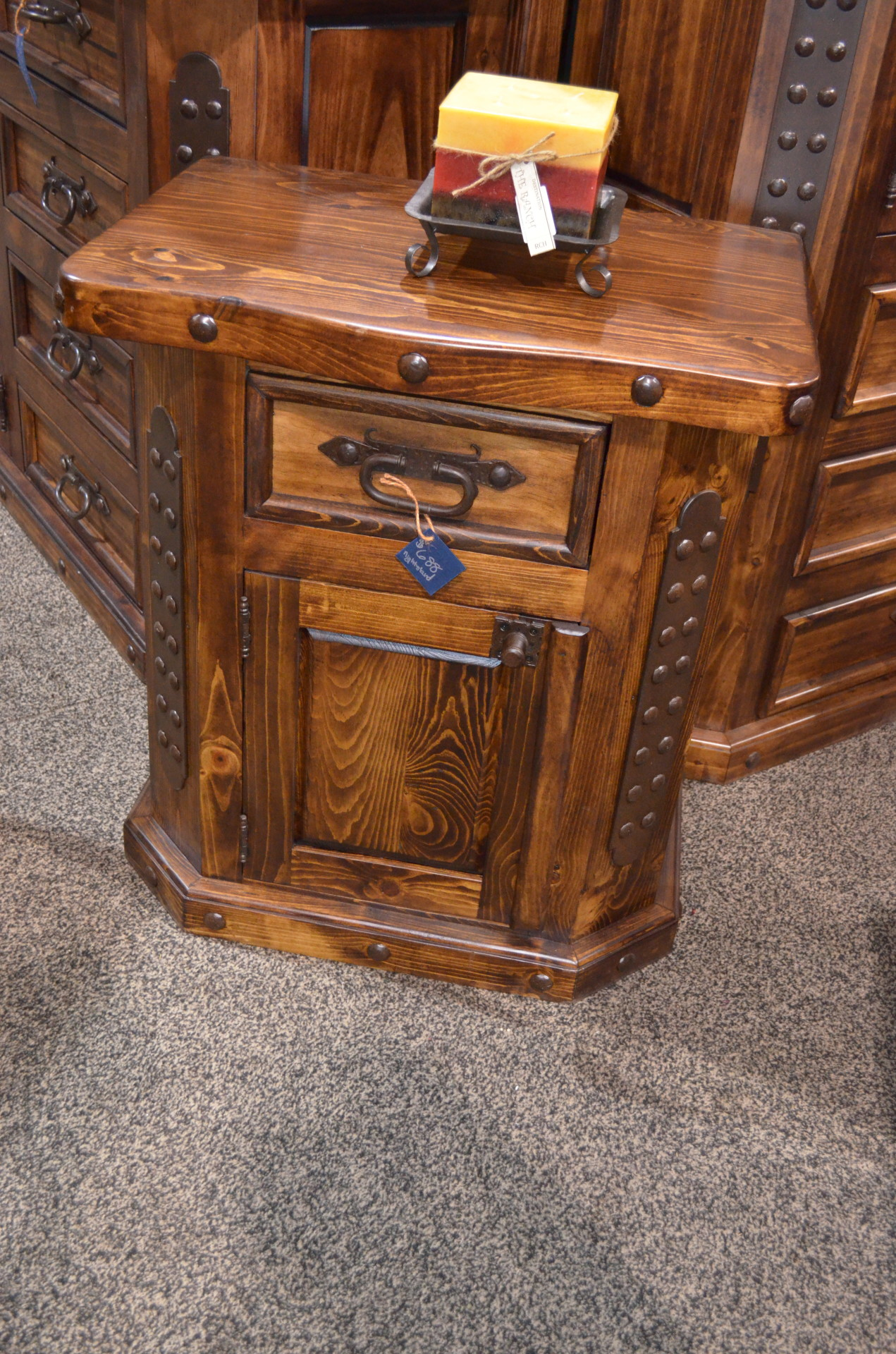 Fine Lacquer Nightstand $688