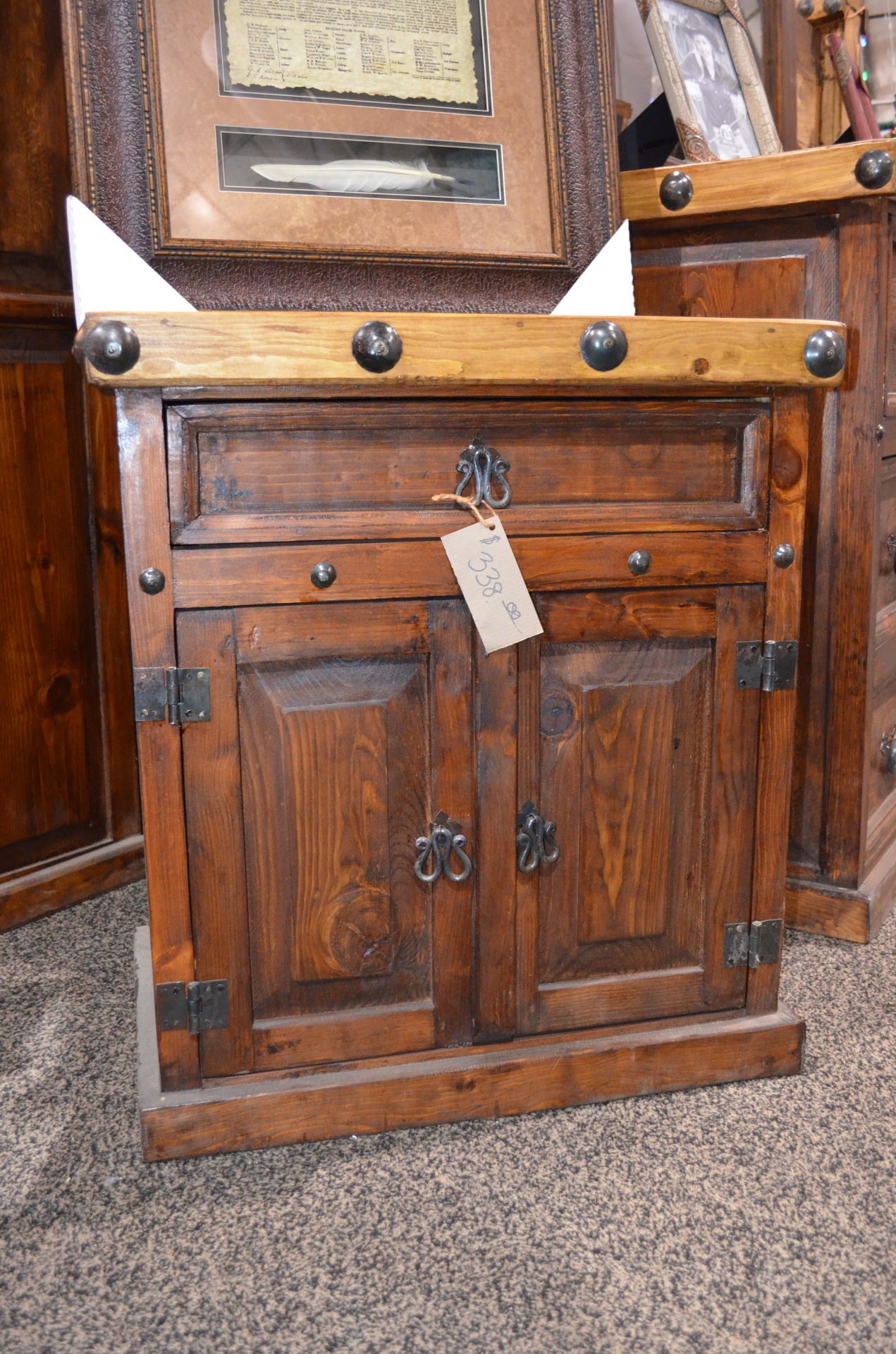 Don Carlos Nogal/Walnut Nightstand $338