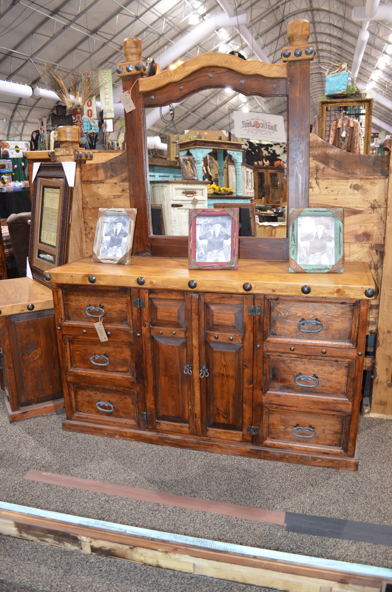 Don Carlos Nogal/Walnut Dresser and Mirror  $1461