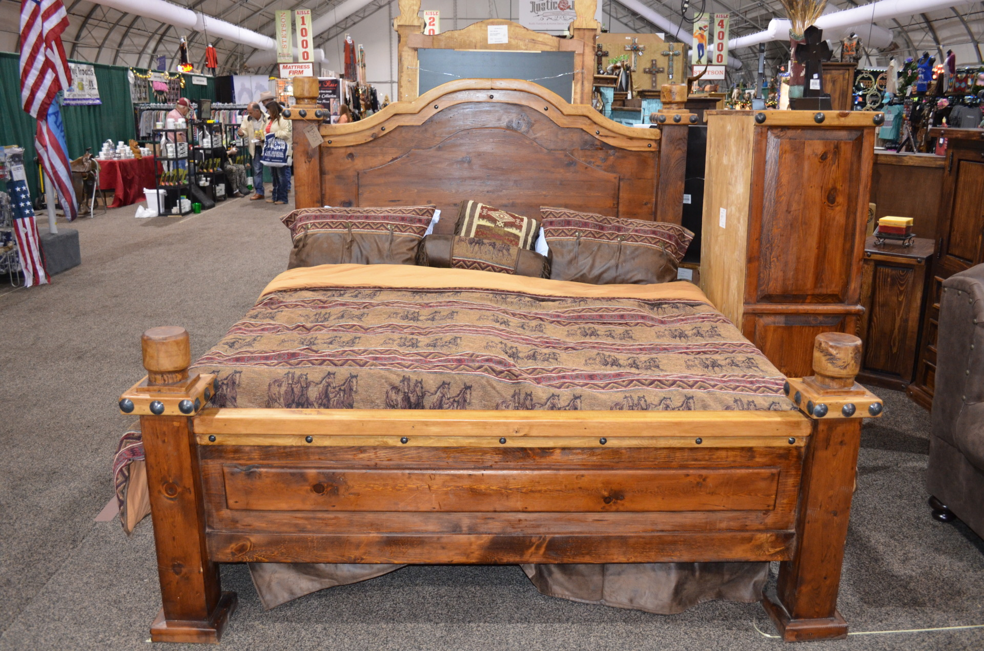 KING- Don Carlos Nogal/Walnut Bed $1337