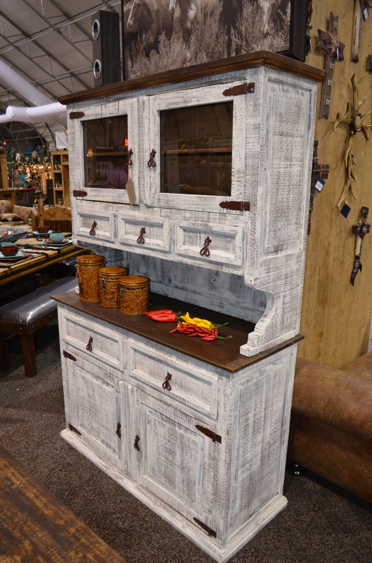 2PC White China Hutch.  $1223