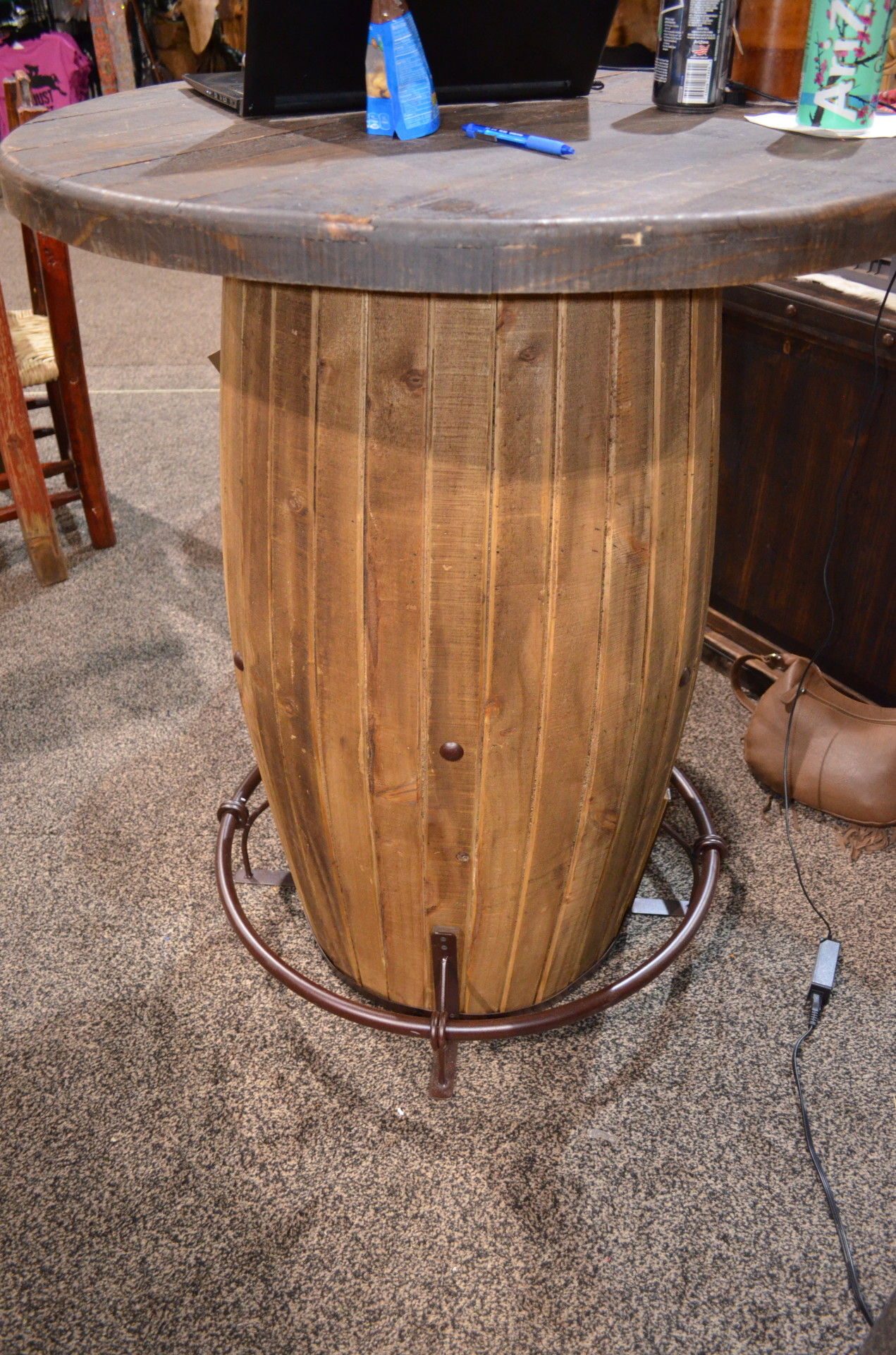 Whiskey Barrel Pub Table $773