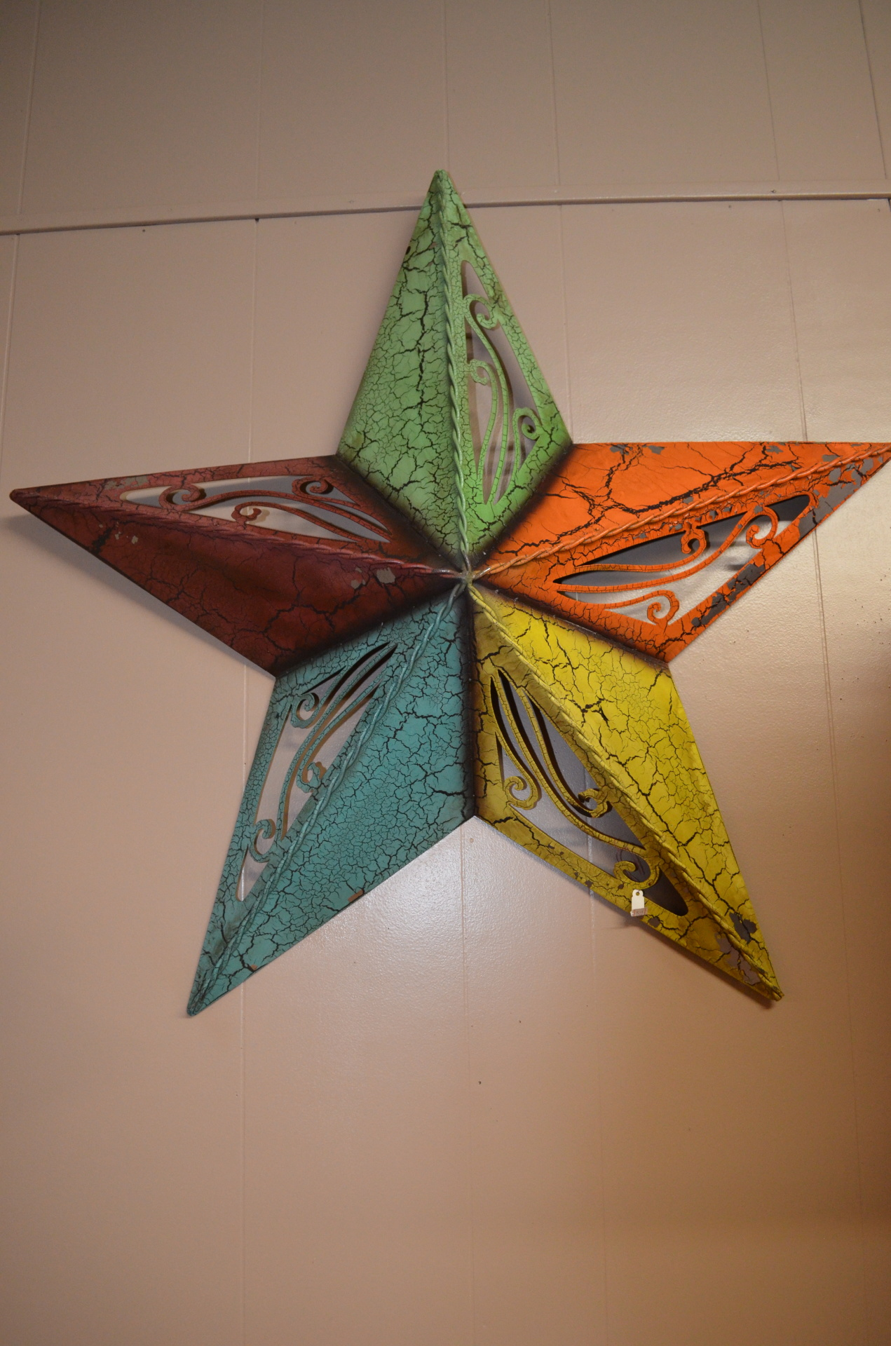 Medium Colorful Metal Star- $25.99